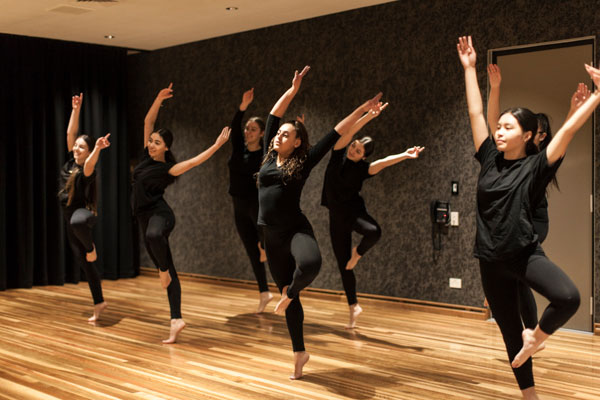 Students practining dance routine at Clancy Catholic College West Hoxton