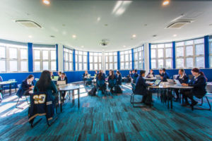Contemporary learning space at Clancy Catholic College West Hoxton