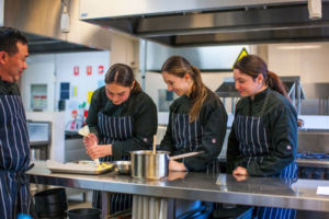 Students learning in hospitality at Clancy Catholic College West Hoxton