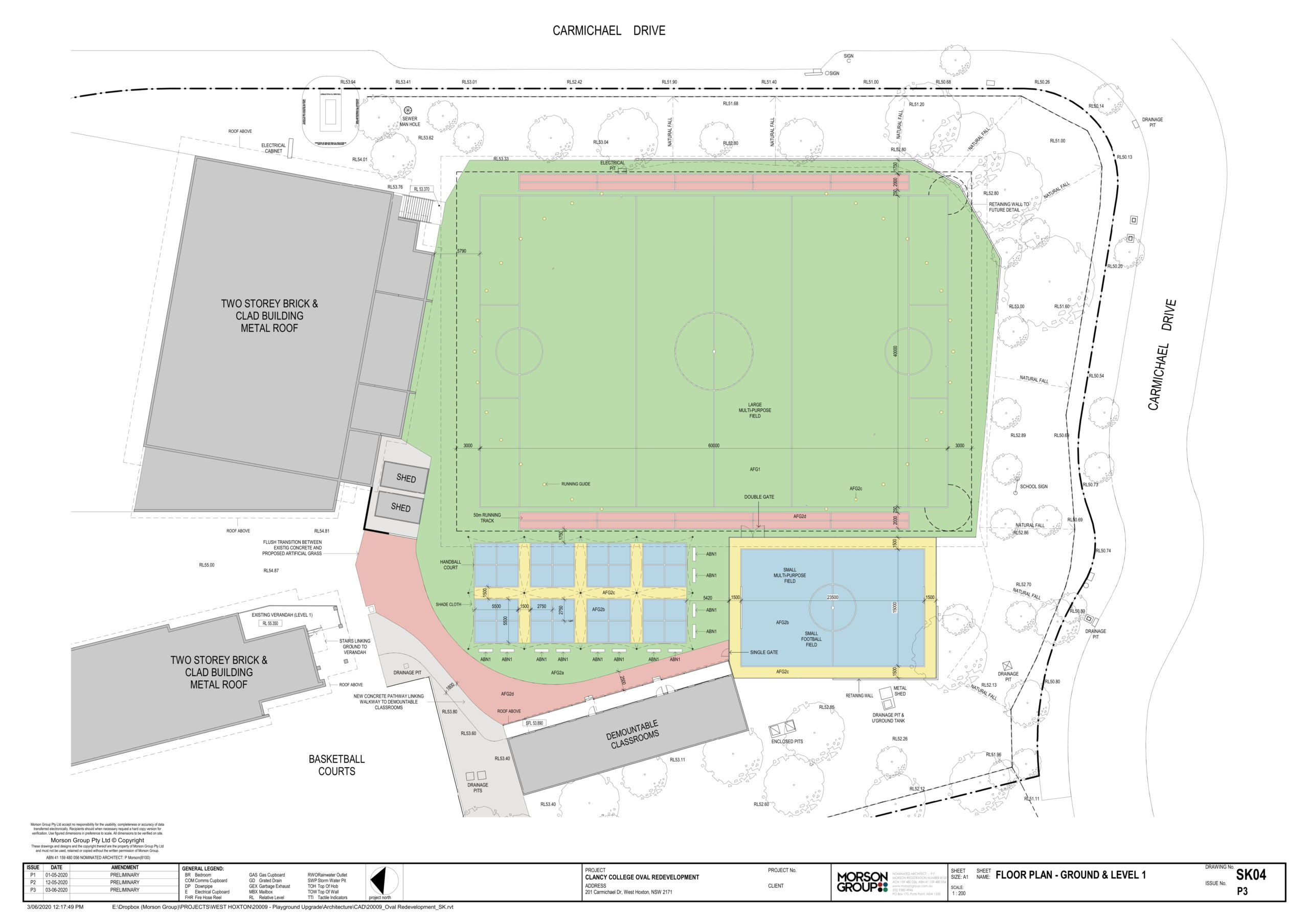 College Oval Plans